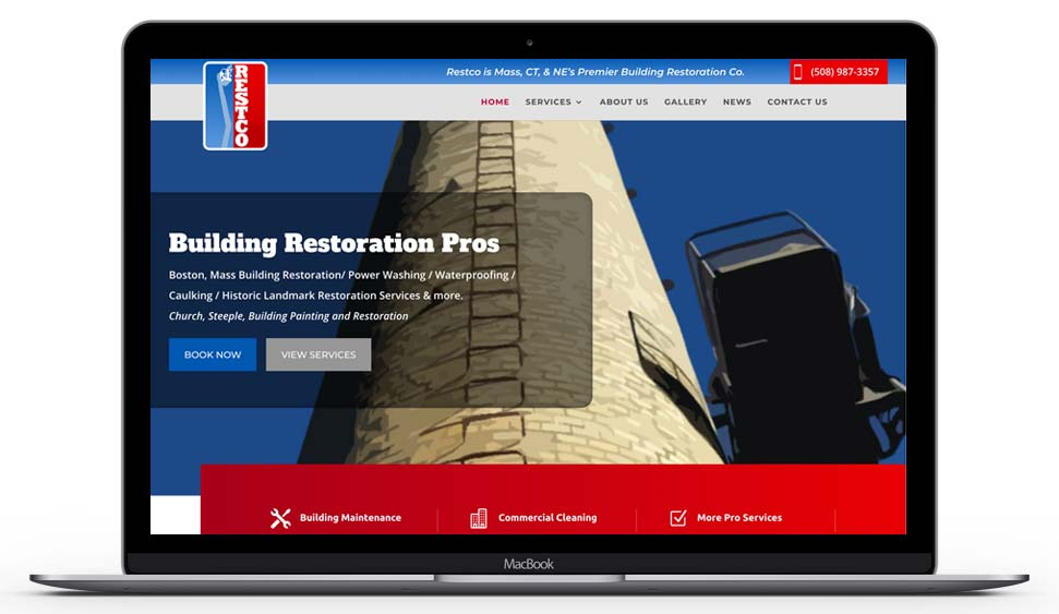 Rescto Corp Power Wash Website Design by Idea Swell